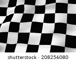 an image of the checkered flag | Shutterstock . vector #208256080