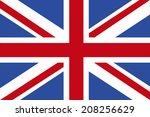 the national flag of united... | Shutterstock . vector #208256629