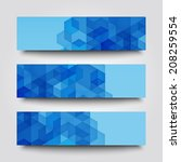 set of banner templates with... | Shutterstock . vector #208259554