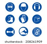 commanded sign vector icon | Shutterstock .eps vector #208261909
