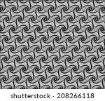 seamless pattern spirograph... | Shutterstock .eps vector #208266118