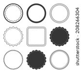 set of 9 design summer elements ...   Shutterstock .eps vector #208266304