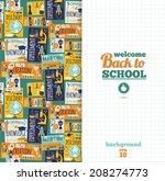 back to school. vector... | Shutterstock .eps vector #208274773