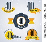40 years of service  40 years   ... | Shutterstock .eps vector #208275043