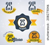 25 years of service  25 years   ... | Shutterstock .eps vector #208275046