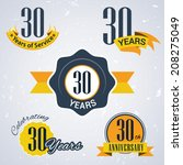 30 years of service  30 years   ... | Shutterstock .eps vector #208275049