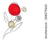 floral design | Shutterstock .eps vector #208279663
