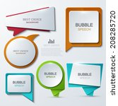 vector modern bubble speech... | Shutterstock .eps vector #208285720