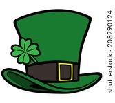 leprechaun hat | Shutterstock .eps vector #208290124