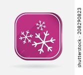 snowflake sign. color square... | Shutterstock .eps vector #208290823