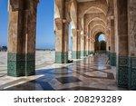 exterior of hassan ii mosque ...   Shutterstock . vector #208293289