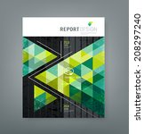 cover report triangle geometry... | Shutterstock .eps vector #208297240