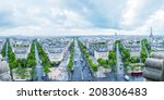 view of paris southwestern side ... | Shutterstock . vector #208306483