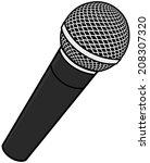 microphone | Shutterstock .eps vector #208307320