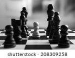 chess board with chess pieces...   Shutterstock . vector #208309258