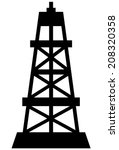 oil rig icon | Shutterstock .eps vector #208320358