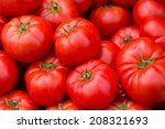 Red Tomatoes On The Market