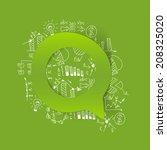 drawing business formulas ... | Shutterstock .eps vector #208325020