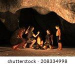 Cave Dwellers Gathered Around ...