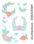 flower frames | Shutterstock .eps vector #208335589