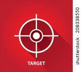 vector flat white target on red ... | Shutterstock .eps vector #208338550