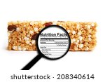 nutrition facts | Shutterstock . vector #208340614
