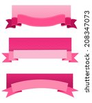 pink breast cancer awareness...   Shutterstock . vector #208347073