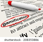 Gamification Word Circled On A...