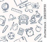 vector seamless pattern of... | Shutterstock .eps vector #208358950