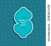 creative financial banner or... | Shutterstock .eps vector #208361458