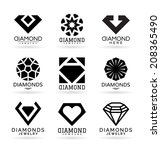 diamonds  13  | Shutterstock .eps vector #208365490