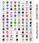 circle flags of the world ... | Shutterstock . vector #208373818