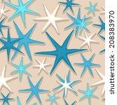 Seamless Starfish Pattern