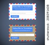 the newsletter subscription...