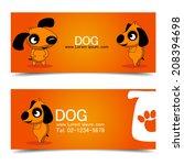 dog design and card brochure... | Shutterstock .eps vector #208394698