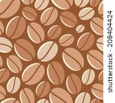 coffee background   vector...   Shutterstock .eps vector #208404424
