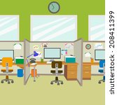 workplace in the office of the ... | Shutterstock .eps vector #208411399