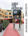 Small photo of STOCKHOLM, SWEDEN - JUNE 30, 2014: ABBA the Museum is a tourist attraction in Djurgarden, Stockholm.