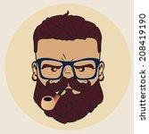 vector illustration of stylish... | Shutterstock .eps vector #208419190