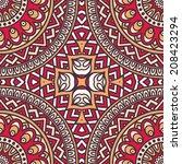 seamless vector indian pattern | Shutterstock .eps vector #208423294