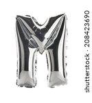 chrome silver balloon font part ... | Shutterstock . vector #208423690