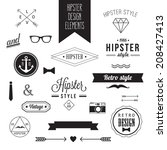 hipster style vintage design... | Shutterstock .eps vector #208427413