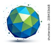 spatial vector turquoise... | Shutterstock .eps vector #208433668