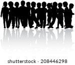 children silhouettes | Shutterstock .eps vector #208446298