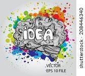 brain doodles idea   vector...   Shutterstock .eps vector #208446340