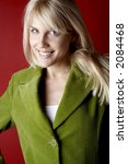 portrait of young blond woman | Shutterstock . vector #2084468