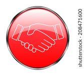 icon handshake. background for... | Shutterstock .eps vector #208471600