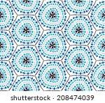 vector seamless pattern  | Shutterstock .eps vector #208474039