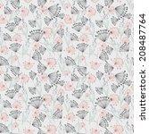 floral seamless pattern  | Shutterstock .eps vector #208487764