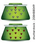 soccer team formation | Shutterstock .eps vector #208488049